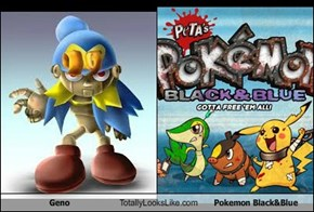 Geno Totally Looks Like Pokemon Black&Blue