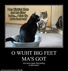O WUHT BIG FEET MA'S GOT