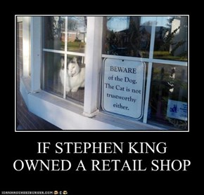 IF STEPHEN KING  OWNED A RETAIL SHOP