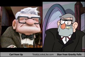 Carl from Up Totally Looks Like Stan from Gravity Falls
