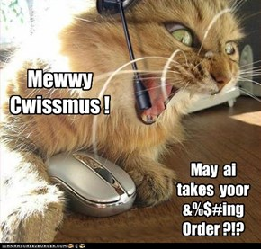 Catalog telephone sales people get a little testy over the holidays.