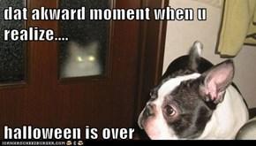 dat akward moment when u realize....  halloween is over