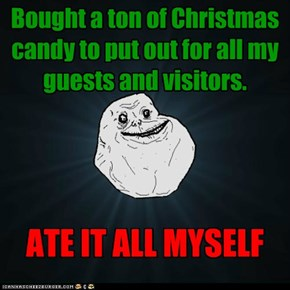 Bought a ton of Christmas candy to put out for all my guests and visitors.