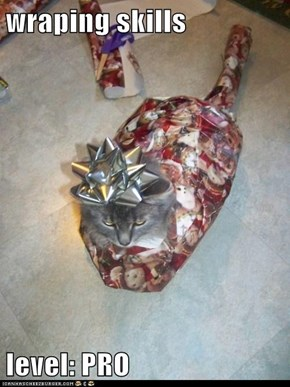 wraping skills  level: PRO