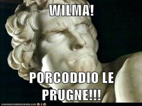 WILMA!  PORCODDIO LE PRUGNE!!!