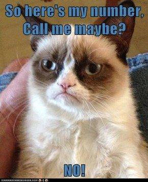 So here's my number, Call me maybe?  NO!