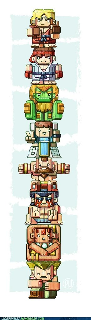 Street Fighter Totem Pole