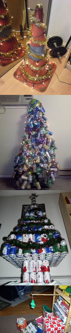 Christmas Trees You'd Expect to see in a College Dorm Room
