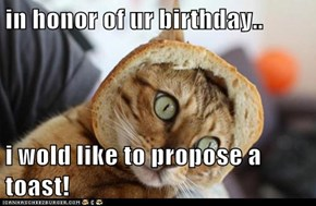 in honor of ur birthday..  i wold like to propose a toast!
