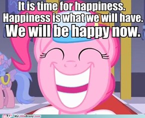 Yes it is time for smiling!