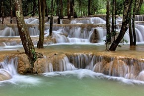 A Waterfall in Luang Prabang, Laos