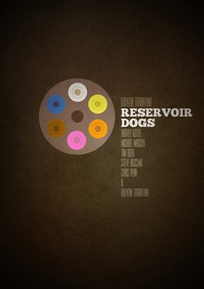 Minimalist Movie Poster: Reservoir Dogs