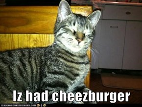 Iz had cheezburger