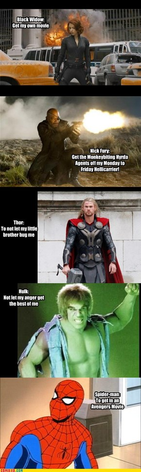 Superhero Resolutions 2013: Avengers