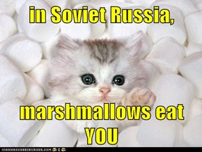 in Soviet Russia,  marshmallows eat YOU