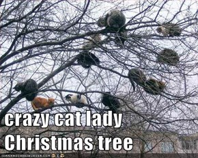 crazy cat lady Christmas tree