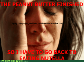 peanut butter > nutella