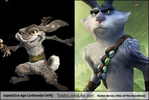 Squint(Ice Age Continental Drift) Totally Looks Like Easter Bunny (Rise of the Guardians)