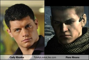 Cody Rhodes Totally Looks Like Piers Nivans
