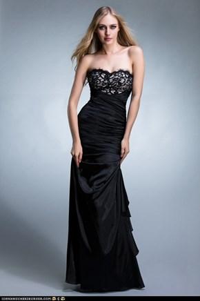 black black black prom dress