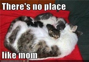There's no place  like mom