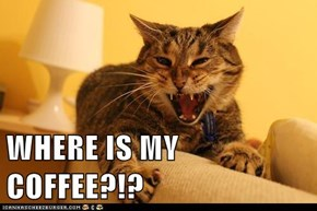 WHERE IS MY COFFEE?!?