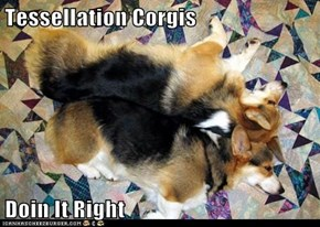 Tessellation Corgis  Doin It Right