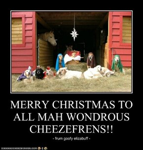 MERRY CHRISTMAS TO ALL MAH WONDROUS CHEEZEFRENS!!