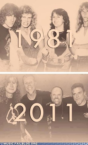 Metallica: The early days and now.