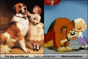 This Dog and Little Girl Totally Look Like Mindy and Buttons