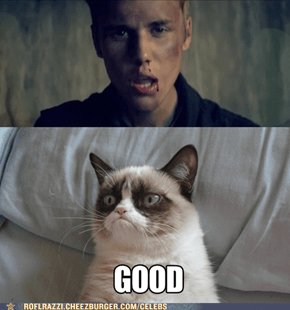 Justin Bieber Get's The Grumpy Cat Treatment