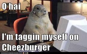 O hai   I'm taggin myself on Cheezburger