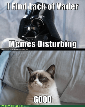Darth Grumpy cat?