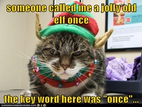 someone called me a jolly old elf once