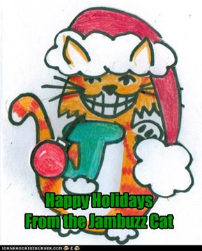 Happy Holidays From the Jambuzz Cat
