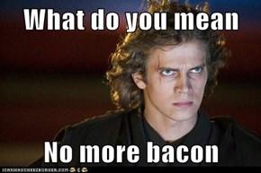 What do you mean  No more bacon