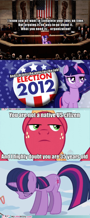 I'd vote for her