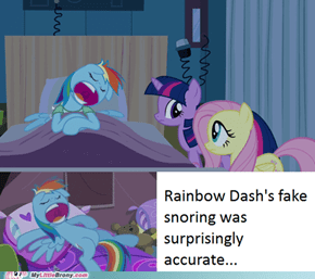 Rainbow is a weird snorer...