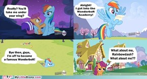 Rainbowdash is mean
