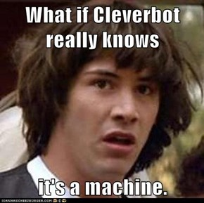 What if Cleverbot really knows  it's a machine.