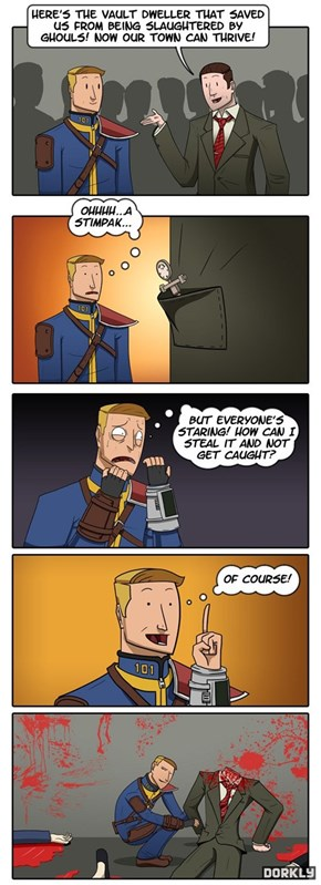 You take a sip from your trusty vault 13 canteen....
