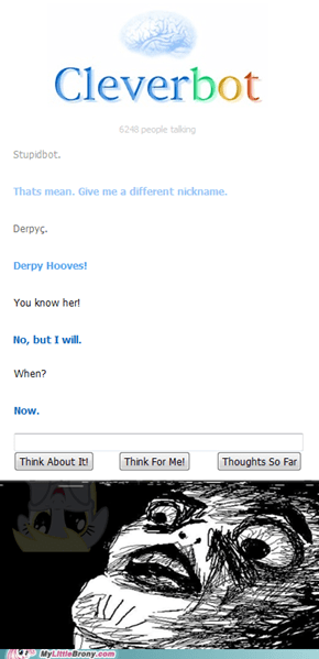 Cleverbot is meeting with Derpy