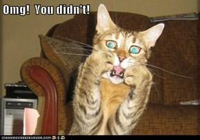 Omg!  You didn't!