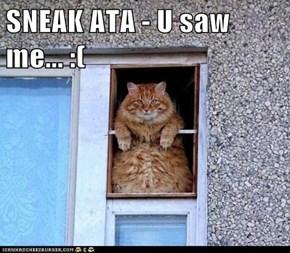 SNEAK ATA - U saw me... :(
