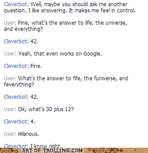 Damn you, Cleverbot
