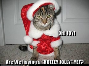 "OH! JOY! Are We having a ""HOLLEY JOLLY"" YET?"