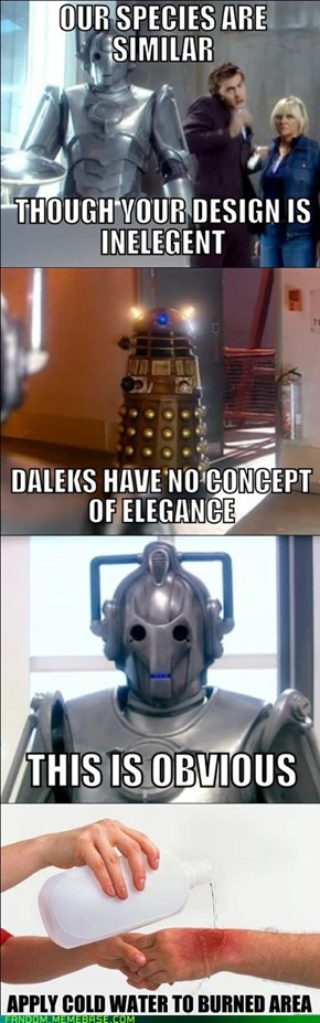 Dalek And Cybermen B*tch Fight
