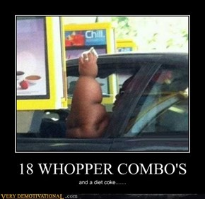 18 WHOPPER COMBO'S