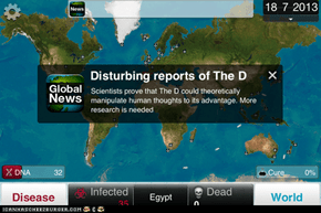 Plague Inc: Spreading the D
