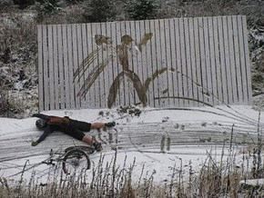 Snowy Wipeout FAIL